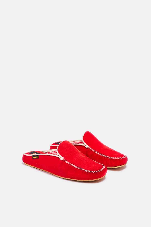 Chinela Kiowa Rojo Slippers en Loyna Shoes