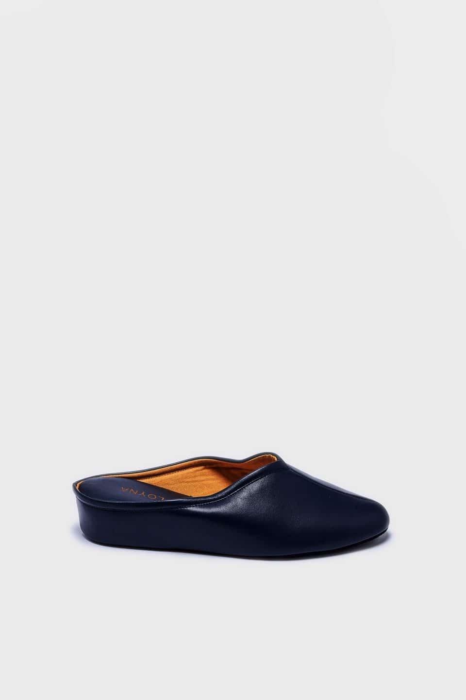 ZUECO CUÑA PIEL MARINO Kosma Menorca en Loyna Shoes