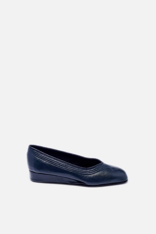 Salon Cuña Pespuntes Marino Kosma Menorca en Loyna Shoes