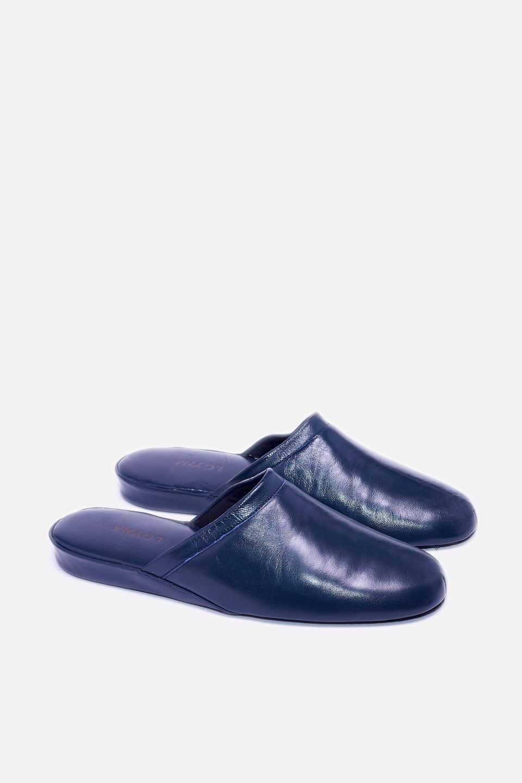 Chinela Piel Vivo Marino Kosma Menorca en Loyna Shoes