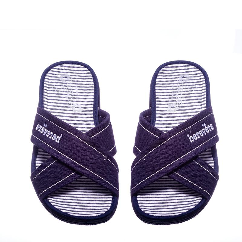 Tiras Cruzadas Marino Slippers en Loyna Shoes