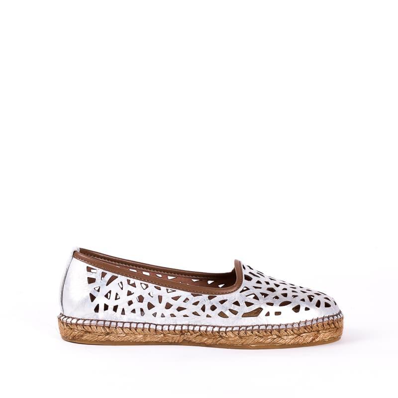 Talavera Calado Plata Alpargatas en Loyna Shoes