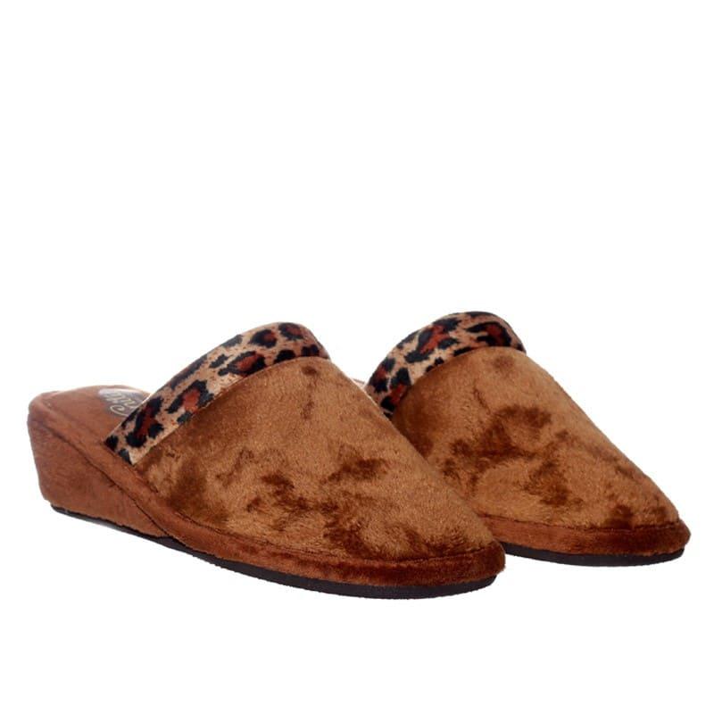 Suapel Leopardo Slippers en Loyna Shoes
