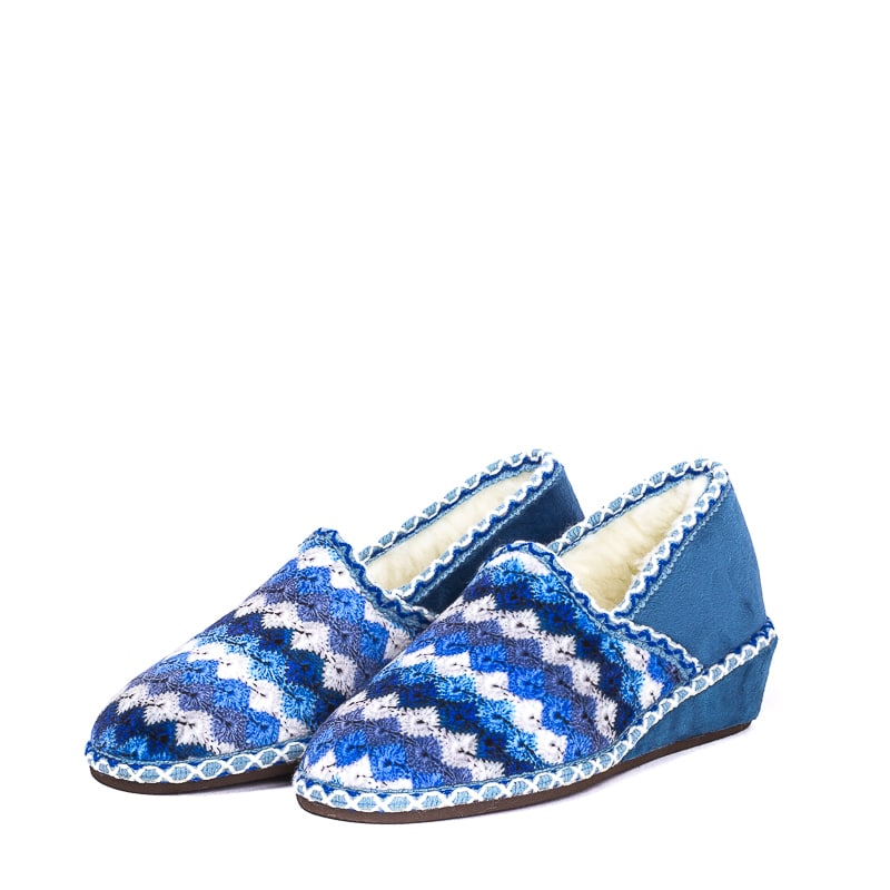 Suapel Azul Slippers en Loyna Shoes
