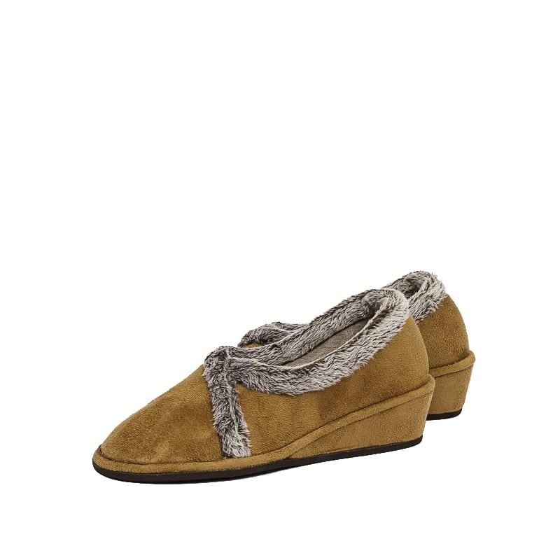 Bamara Camel Slippers en Loyna Shoes