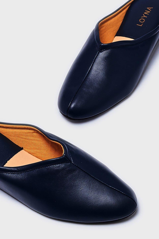 Chinela Pespuntes Marino Kosma Menorca en Loyna Shoes