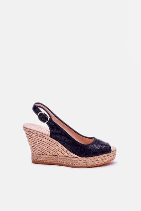 Lady Negro Alpargatas en Loyna Shoes