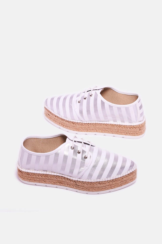 Cadaques Plata Alpargatas en Loyna Shoes
