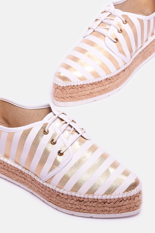 Cadaques Oro Alpargatas en Loyna Shoes