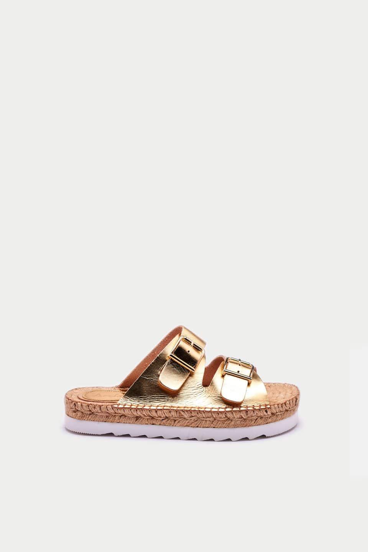Daroca Oro Alpargatas en Loyna Shoes