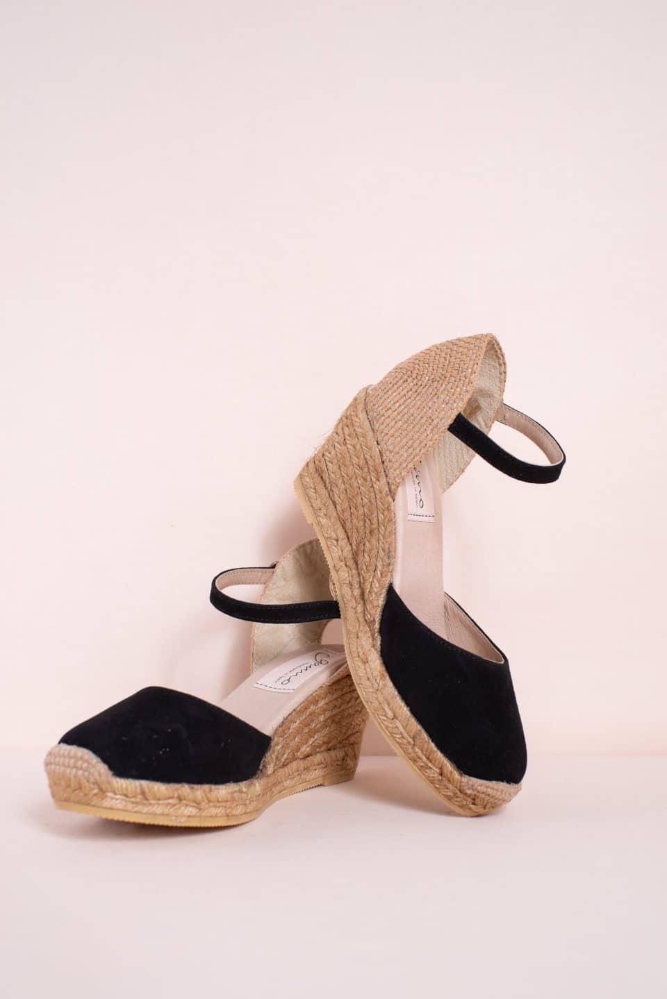 Obi Negro Alpargatas en Loyna Shoes