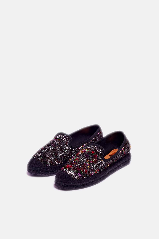 Brindis Negro Alpargatas en Loyna Shoes