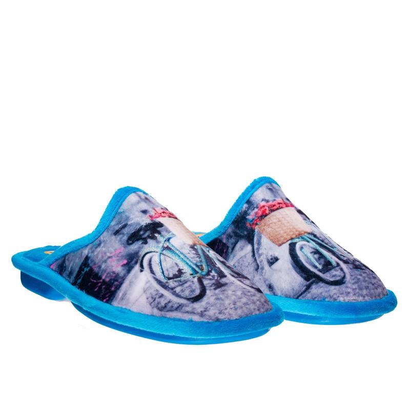 Grenoble Turquesa Slippers en Loyna Shoes