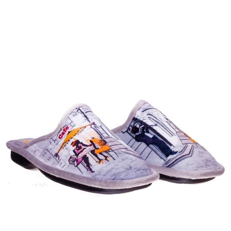 Grenoble Gris Slippers en Loyna Shoes