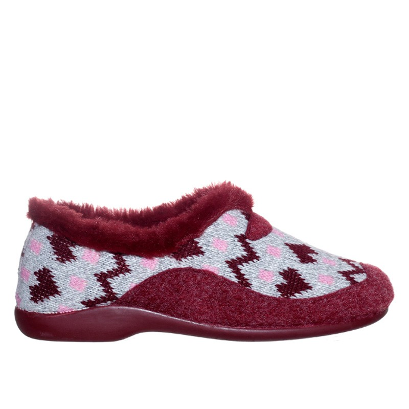 Lana Corazones Burdeos Garzón en Loyna Shoes