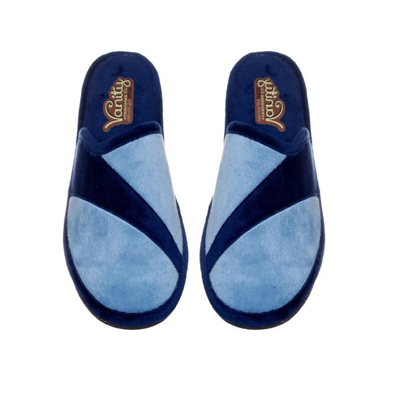 Suapel Combinada Celeste/Azul Slippers en Loyna Shoes