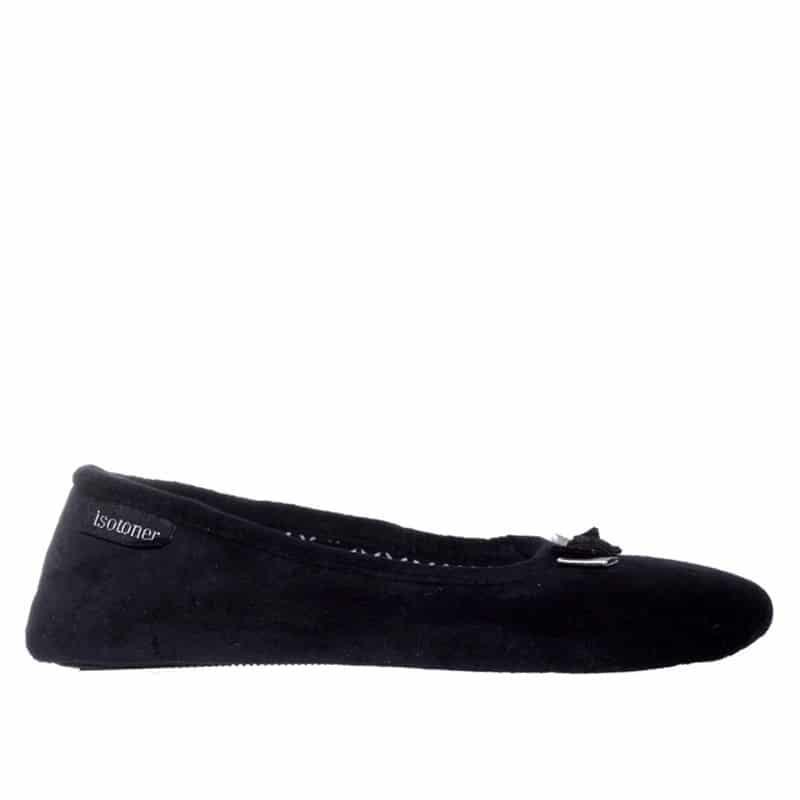 Ballerine Negro Slippers en Loyna Shoes