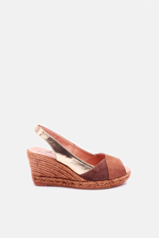 Gemma Camel Alpargatas en Loyna Shoes