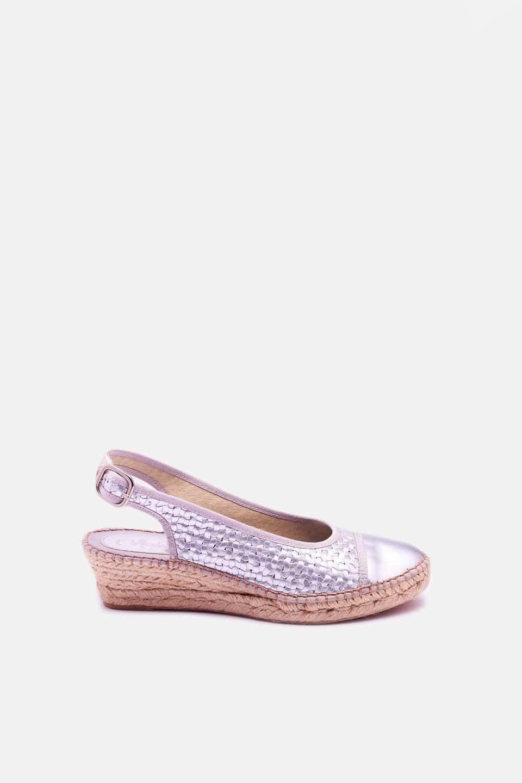 Cronos Plata Alpargatas en Loyna Shoes