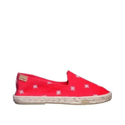 Brujulas Rojo Alpargatas en Loyna Shoes