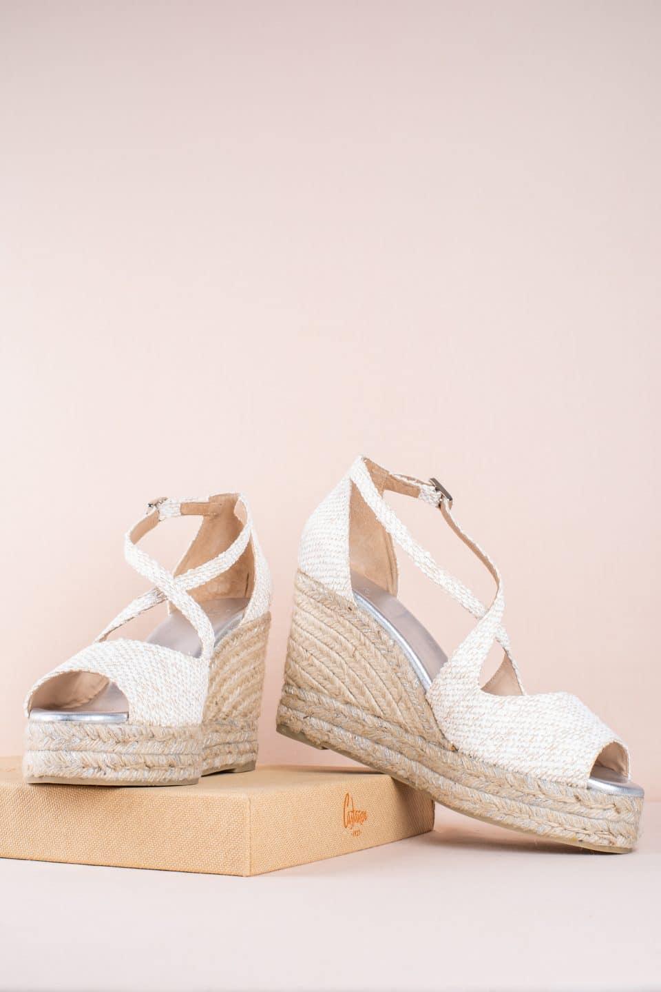 Bisse Blanco/beig Alpargatas en Loyna Shoes