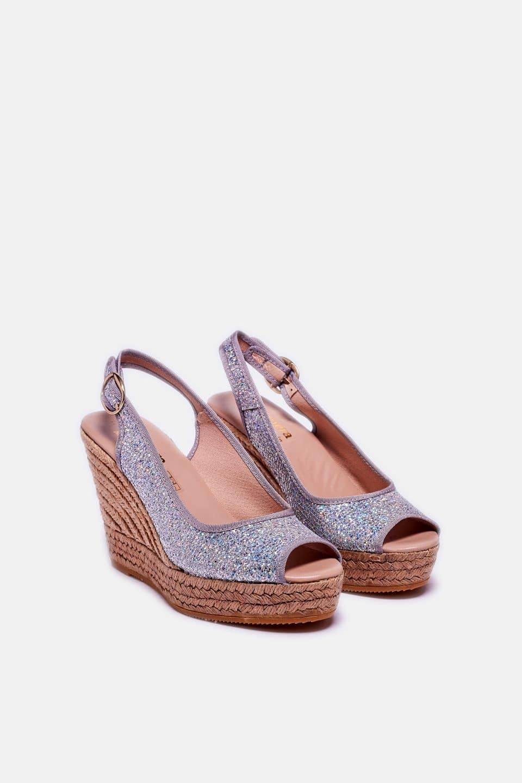 Lady Plata Alpargatas en Loyna Shoes
