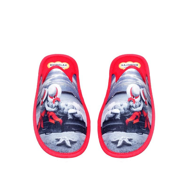 Janeiro Rojo Slippers en Loyna Shoes