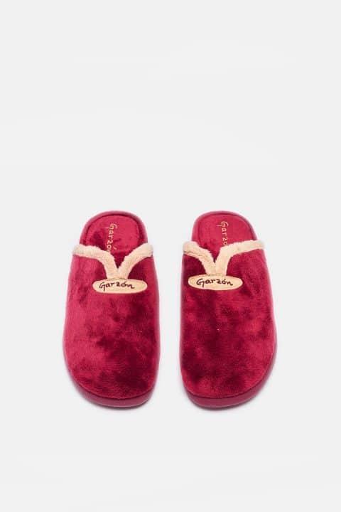 Montlis Chapa/Piel Burdeos Garzón en Loyna Shoes
