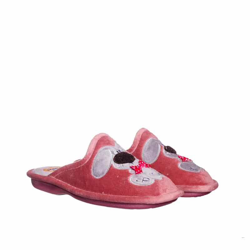 Suapel Salmon Slippers en Loyna Shoes