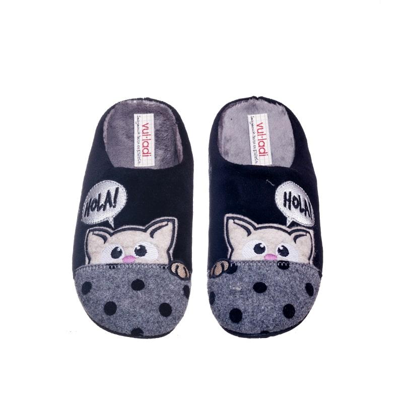 Alaska Gato Nordic Negro Marcas en Loyna Shoes