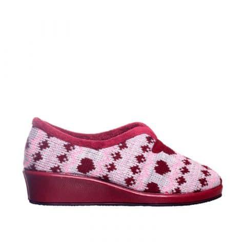 Lana Cupido Cuña Burdeos Garzón en Loyna Shoes
