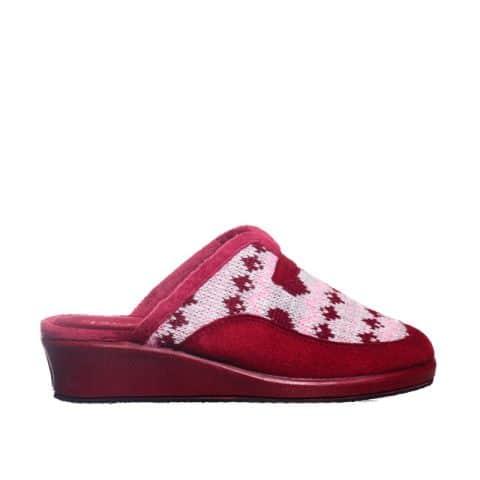 Zueco Lana Cupido Cuña Burdeos Garzón en Loyna Shoes