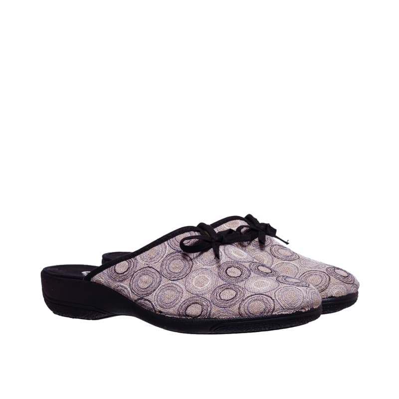 Concentric Negro Slippers en Loyna Shoes