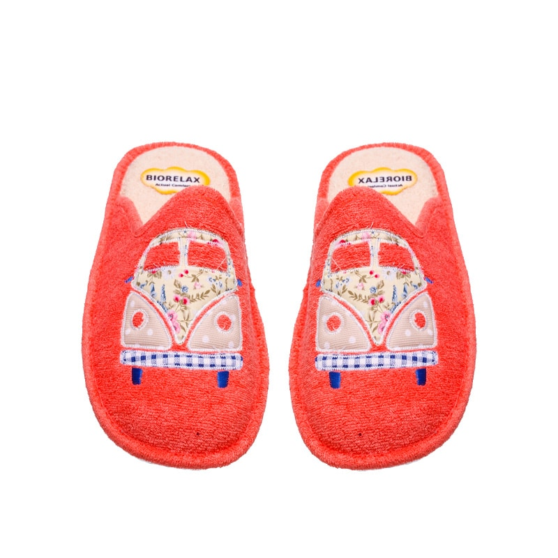 Rizo Coral Slippers en Loyna Shoes