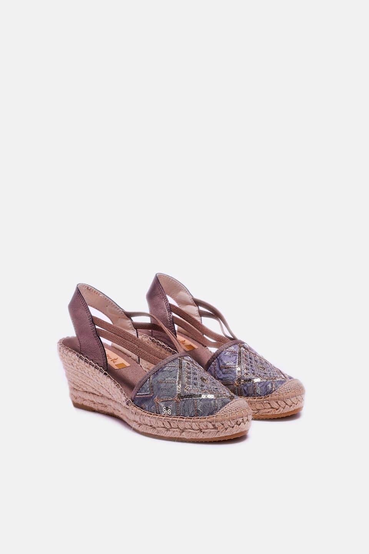 Banda Rombo Topo Clavel Alpargatas en Loyna Shoes