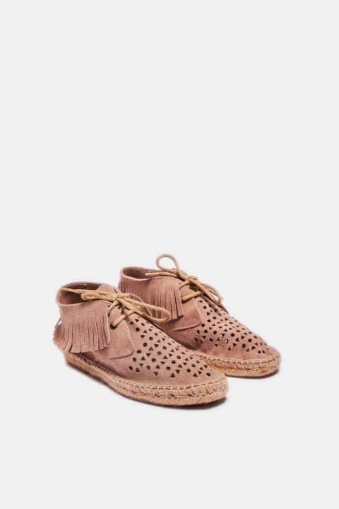 Bota Flecos Serraje Piedra Sin categoría en Loyna Shoes