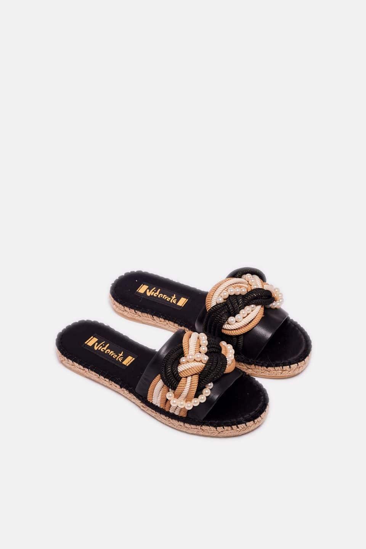 Pinqui Napa Negro Alpargatas en Loyna Shoes