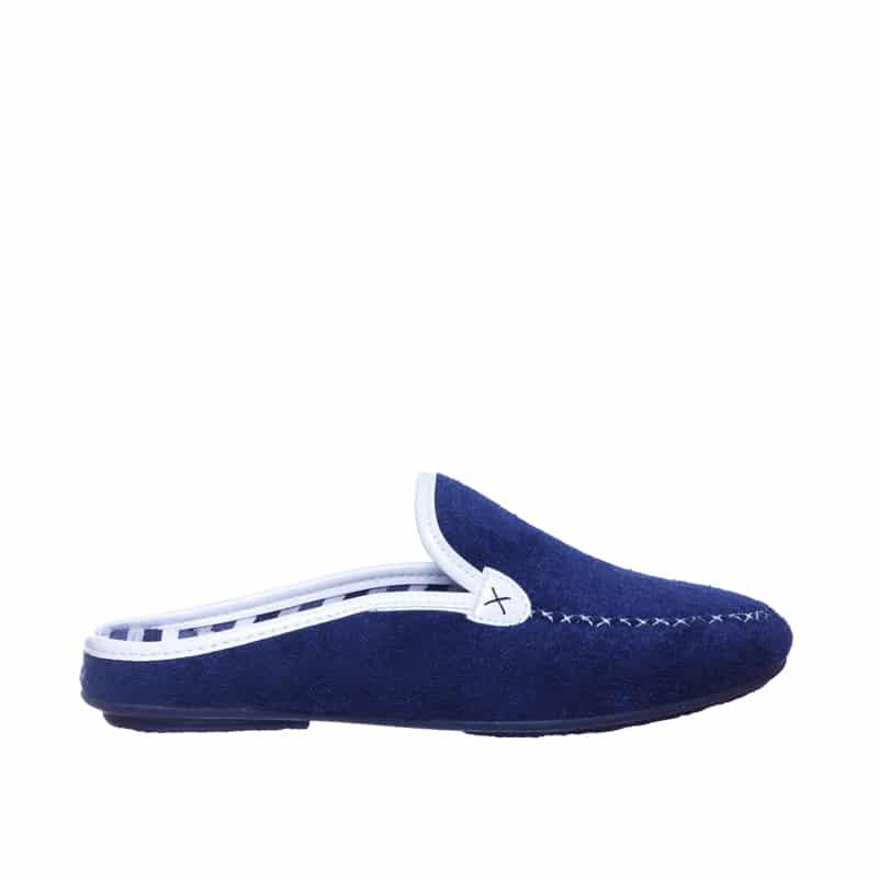 Zueco Kiowa Toalla Marino Slippers en Loyna Shoes