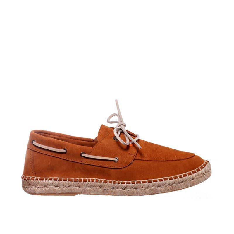 Nautico Piel Camel Abarca en Loyna Shoes