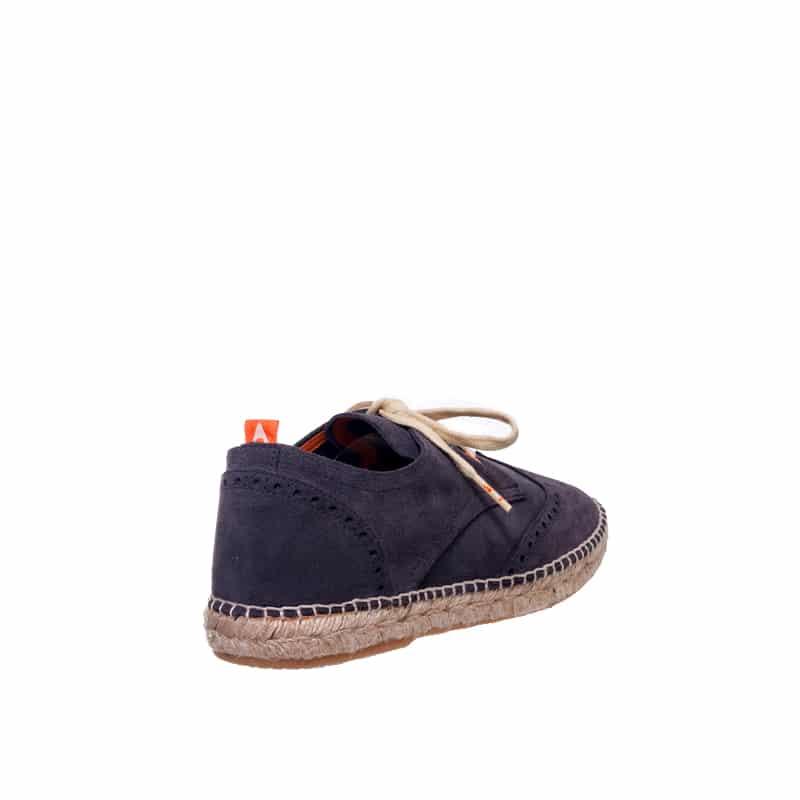 Oxford Piel Gris Abarca en Loyna Shoes