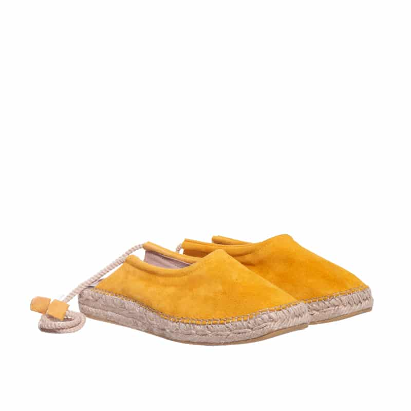 Babucha Cordon Mostaza Alpargatas en Loyna Shoes
