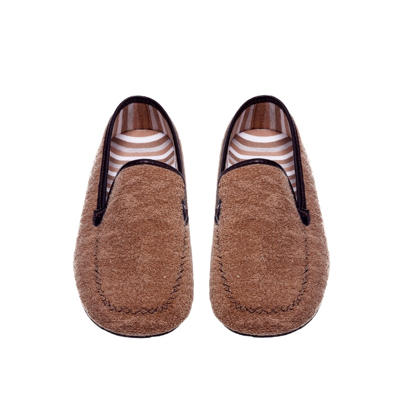 Kiowa Toalla Taupe Slippers en Loyna Shoes