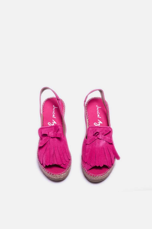 Serraje Flecos  Fuxia Alpargatas en Loyna Shoes