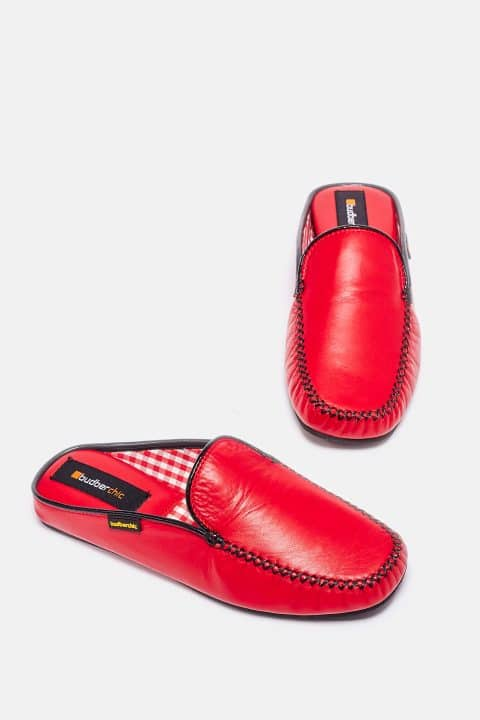 Chinela Kiowa Piel Rojo