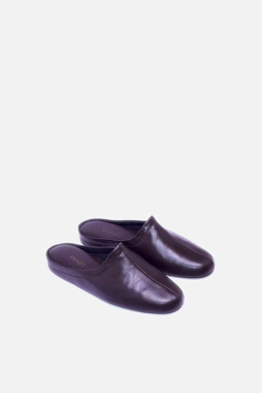 ZUECO ANILINA MARRON Kosma Menorca en Loyna Shoes