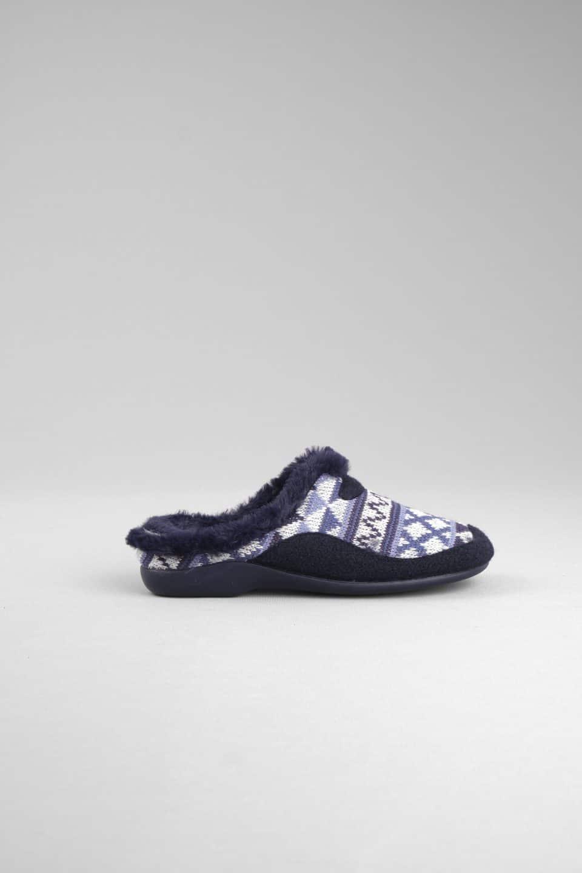 ZUECO LANA TRIANGULOS MARINO Garzón en Loyna Shoes