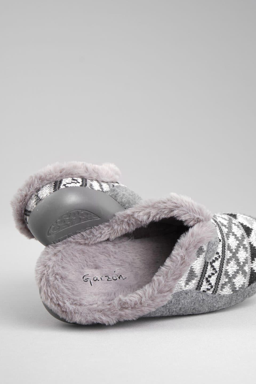 ZUECO LANA TRIANGULOS GRIS Garzón en Loyna Shoes