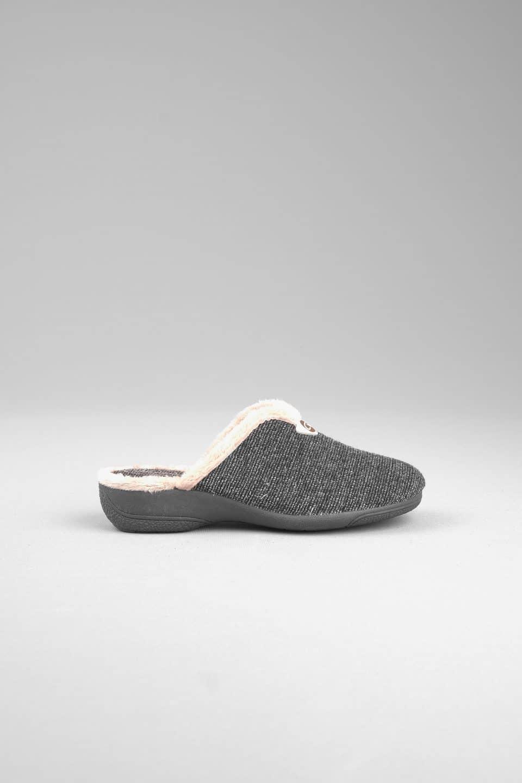 SAURI GRIS ABIERTA Slippers en Loyna Shoes