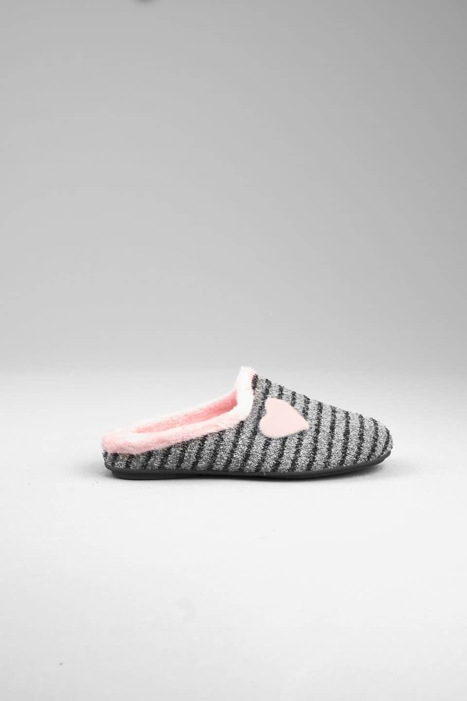 NATALIA GRIS ABIERTA Slippers en Loyna Shoes