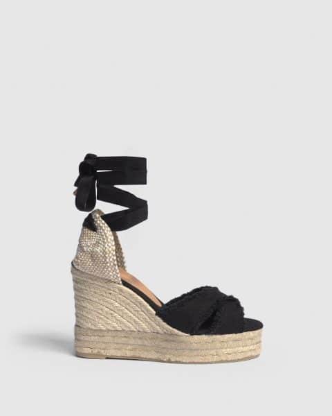 Alpargata de cuña Bluma elaborada en lona 11 cm Castañer Alpargatas en Loyna Shoes